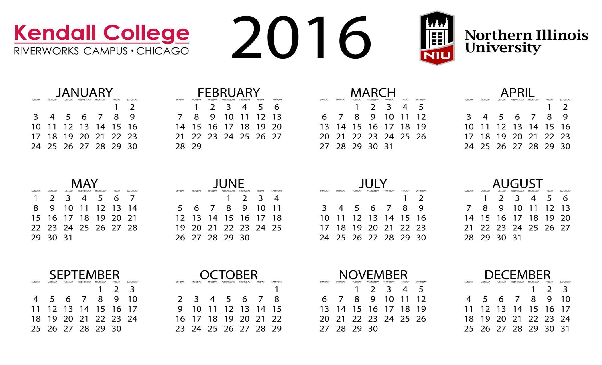 2016 Class Schedule w/ 2 new locations