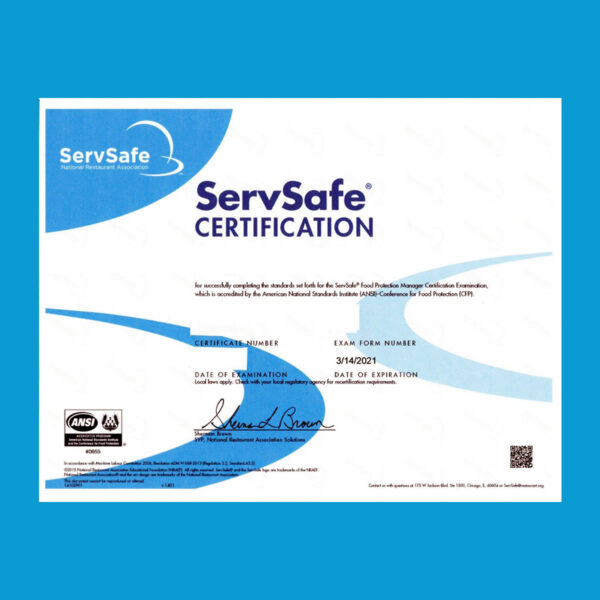 Online Food Safety Manager Certification Course – Spanish