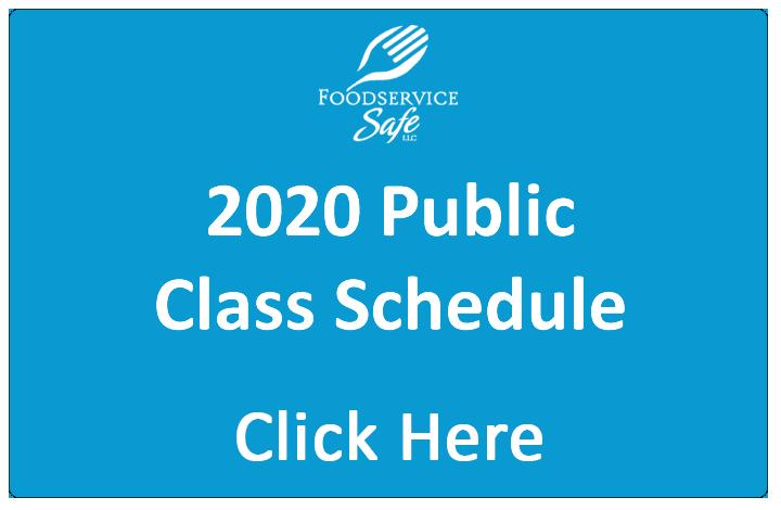 2020 Public Class Schedule