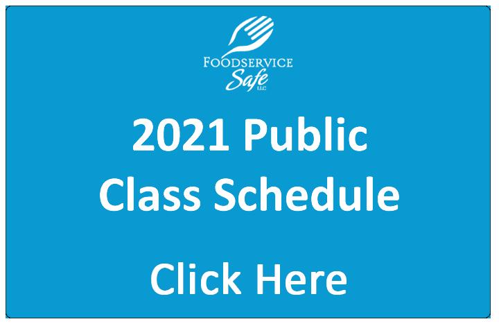 2021 Public Class Schedule